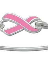 LESTAGE PINK RIBBON STERLING CLASP
