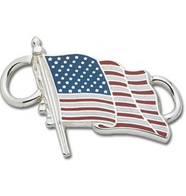 LeStage Sterling Silver Flag Clasp