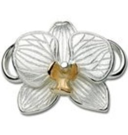 Orchid Sterling & 14K Clasp