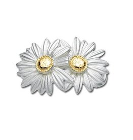 LeStage SS & 14K Daisies Clasp