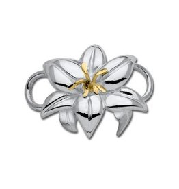 LeStage SS & 14K Yellow Gold Lily Clasp