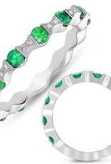 S. Kashi 14K White Gold Tsavorite & Diamond Ring
