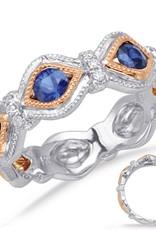 S. Kashi Rose & White Gold Sapphire & Diamond Ring