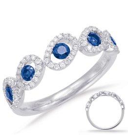 S. Kashi 14k White Gold Diamond & Sapphire  Ring