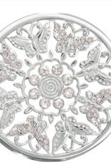 Nikki Lissoni 'Flower Garden' Large Silver Coin