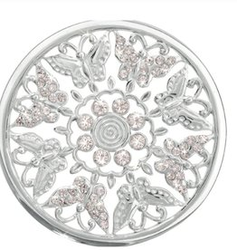 Nikki Lissoni 'Flower Garden' Large Silver Coin