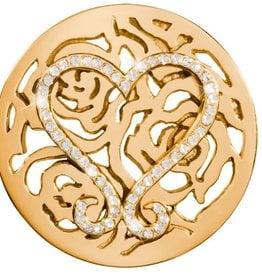 Nikki Lissoni 'Lovely Roses' Large Gold Coin