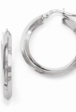 Sterling Silver Polished Hoops