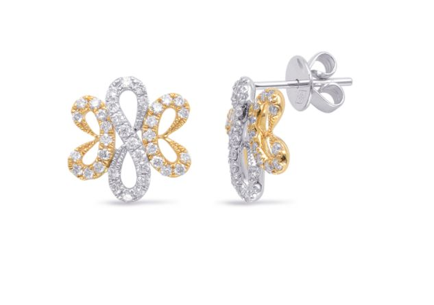 S. Kashi 14K White & Yellow Gold Diamond Earrings