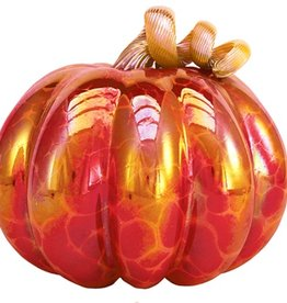 Royal Red Glass Pumpkin - Large