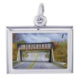 """T-Bird Country"" Bridge Charm - Medium"