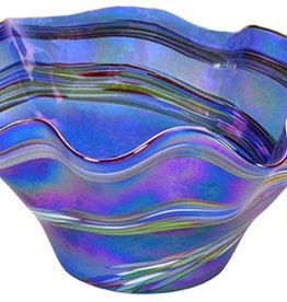 Blue Rainbow Floppy Bowl