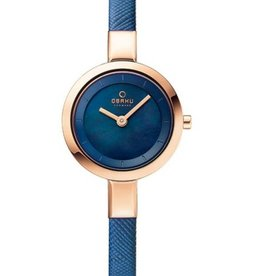 Obaku Watches Women's Siv - Navy Blue