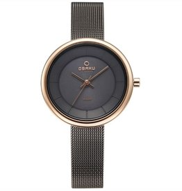 Obaku Watches Women's Lys  Solar Powered  - Granite