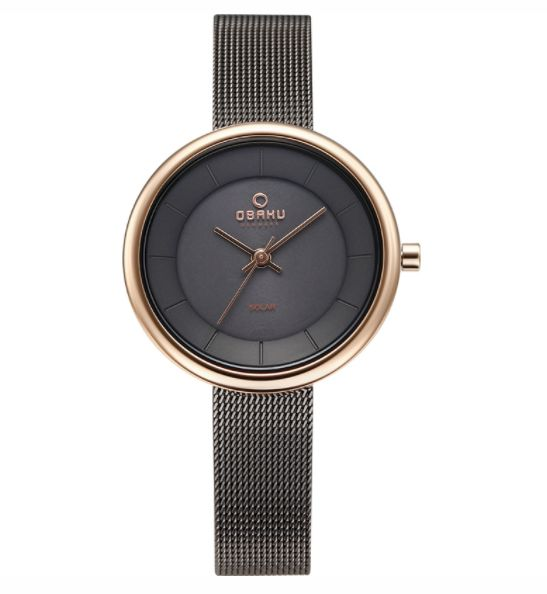 Obaku Watches Rose Gold & Granite Gray Watch