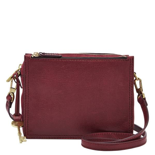 73c2161ee573 Fossil Campbell Crossbody in Cabernet - Golden Karat Jewelers