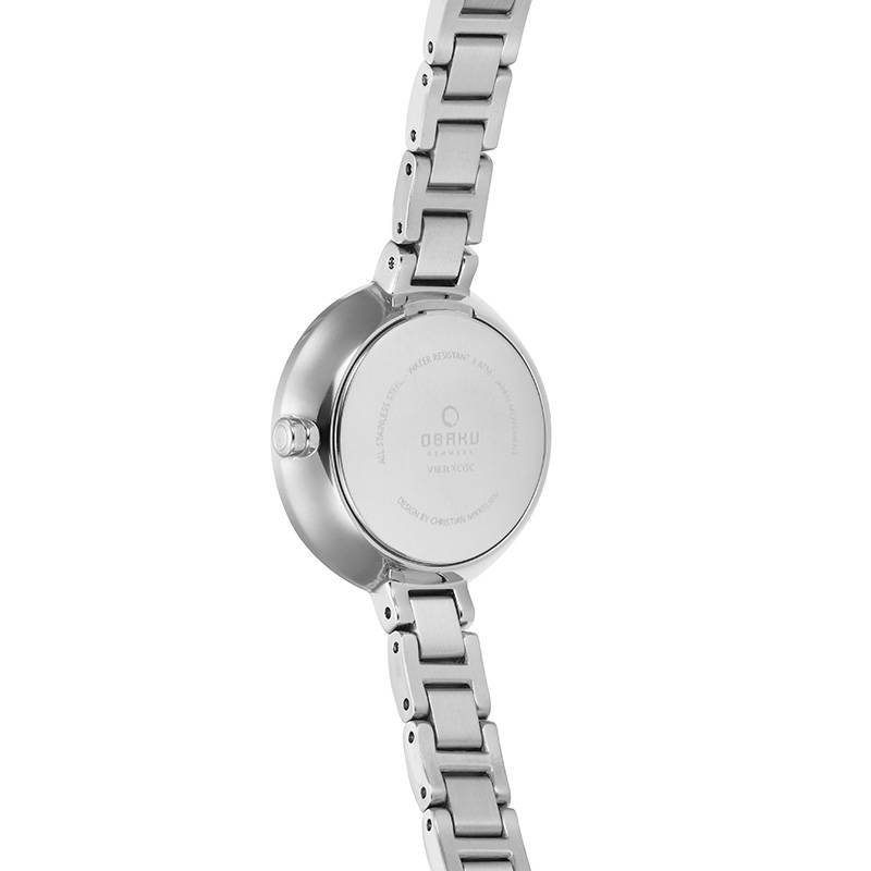Obaku Watches Women's Vind - Peach & Stainless