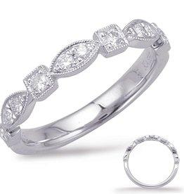 S. Kashi 14K WG Vintage Engagment Ring