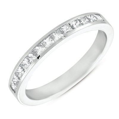 S. Kashi S. Kashi Princess Cut Wedding Band .48 CTW