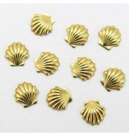 Gellipop Metal Studs Shell Gold 5mm