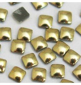 Gellipop Metal Studs Square Gold 2x2mm