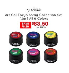 Nail Labo Presto Art Gel Artist Series Tokyo Swag Collection Set - All 6 Colors