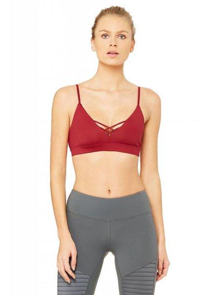 Alo Yoga Alo Interlace Bra Red Velvet