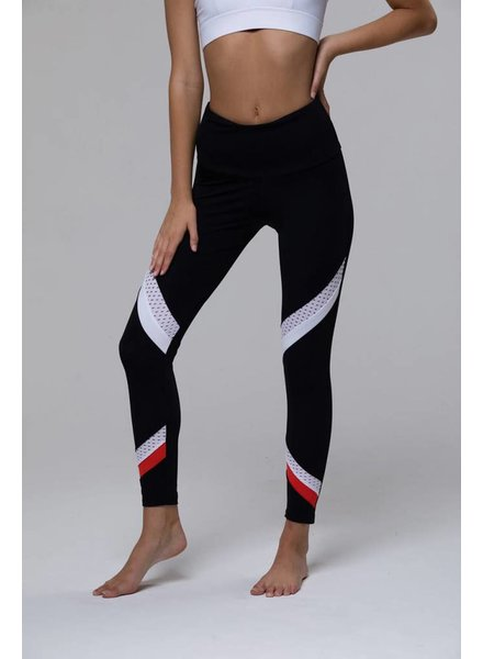Onzie Sporty Legging Coral Combo