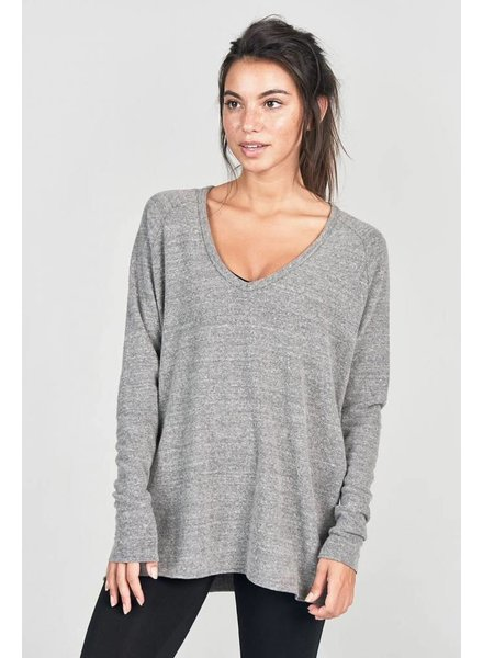 Joah Brown For Keeps V-Neck Grey Hacci O/S