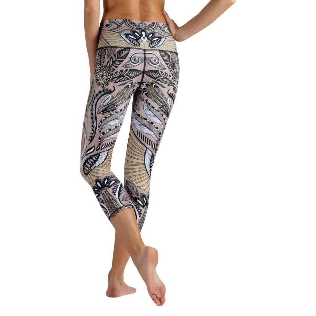 Yoga Democracy Desert Goddess Crop Leggings