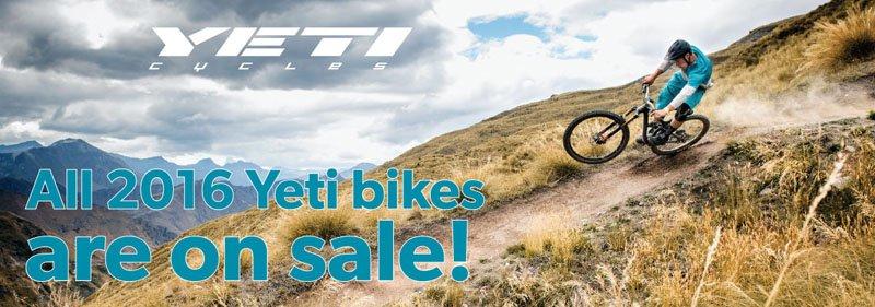 2016 Yeti bikes on sale.