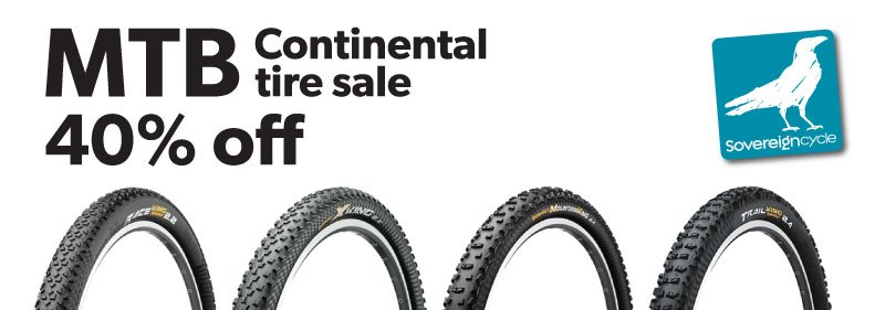 Continental MTB tires on sale.