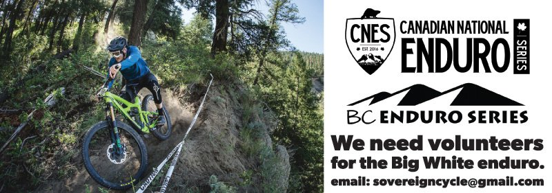 Volunteers needed for the Big White Enduro on Aug 27th