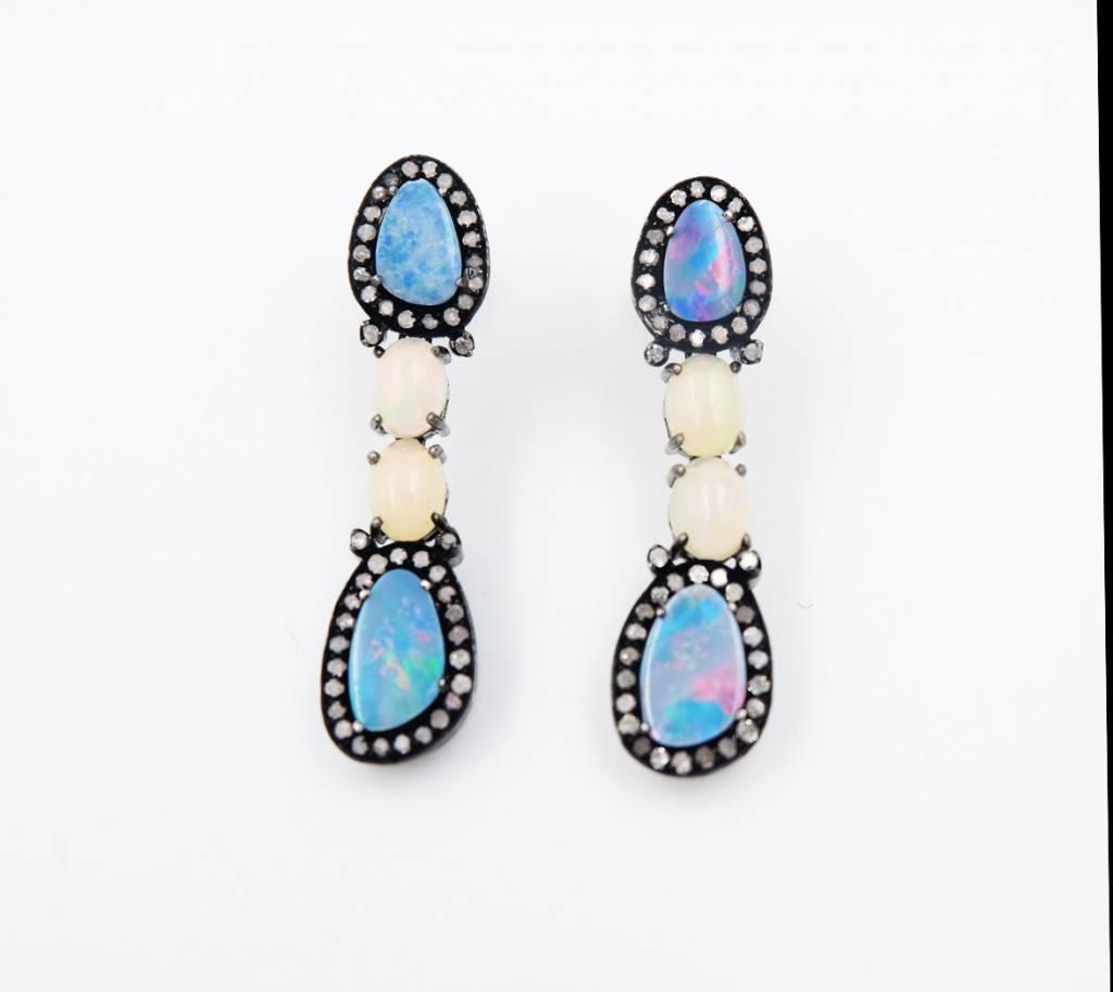 Opal Pave Ear
