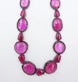 Pink Saph, Ruby, Neck