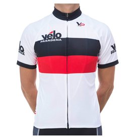d44594f45 Velo Pasadena VP Jersey  15 White Black Red
