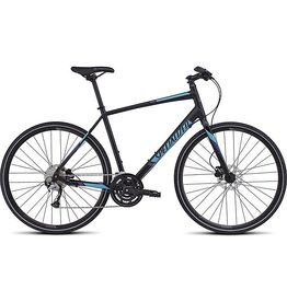 Specialized 2016 Specialized Sirrus Sport Disc Black Cyan Blue
