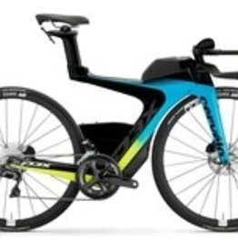 Cervelo P3x Di2 2.0 Blue / Flo Small with race wheels