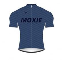 Moxie Cycling Gear Men's 2021 Blue Texture Short Sleeve WL