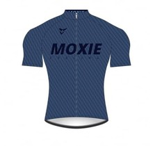 Moxie Cycling Gear Men's 2021 Blue Texture Short Sleeve WM