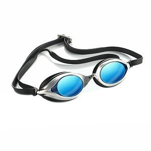 See Worthy USA Inc. Sable WaterOptics 101Mirror Goggles Silver Frame Blue Lens (A)