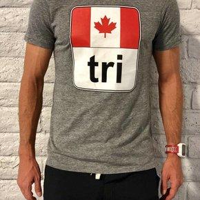Canada Flag Tri Tee Mens'