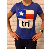 Texas Flag Tri Tee Ladies'