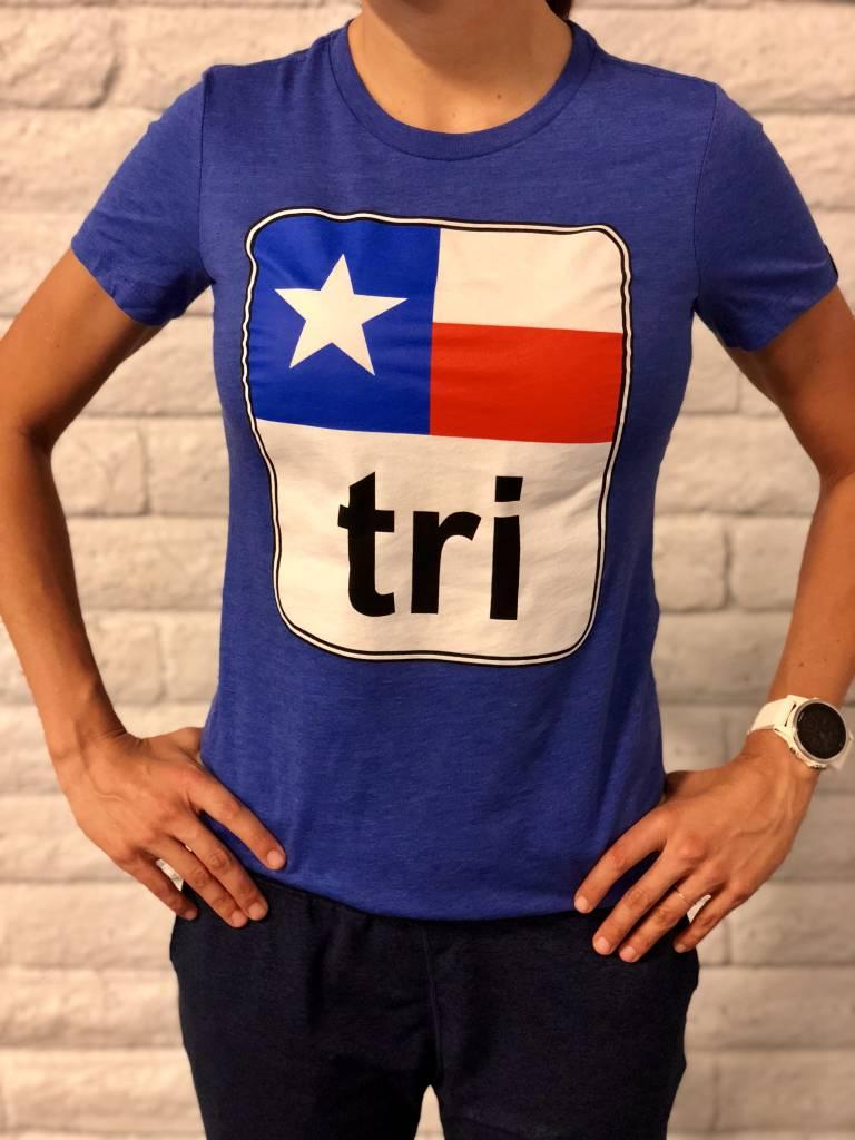Moxie Store Brand Texas Flag Tri Tee Ladies'