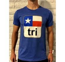 Texas Flag Tri Tee Mens'