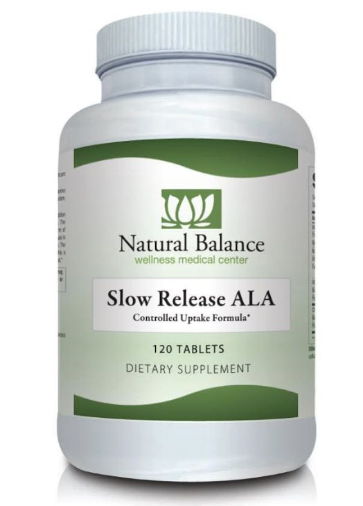 Basic Slow Release ALA (ALPHA LIPOIC ACID) 120CT (NUMEDICA)