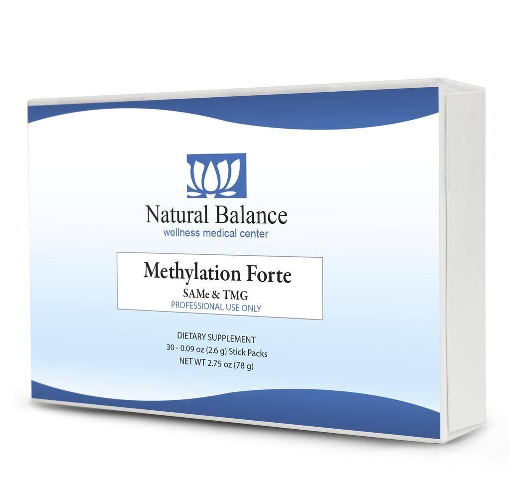 Biomed METHYLATION FORTE - SAMe/TMG (30 - 0.09oz Stick Packs) (XYMOGEN) (7oz)