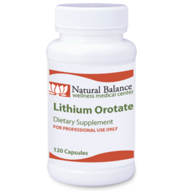 Biomed LITHIUM OROTATE 120CT (PROTHERA/KLAIRE)  (Previuosly Ortho: Same Instructions)