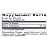 BETAINE HCL 100CT (PROTHERA/KLAIRE)  (Previuosly Ortho: Same Instructions)