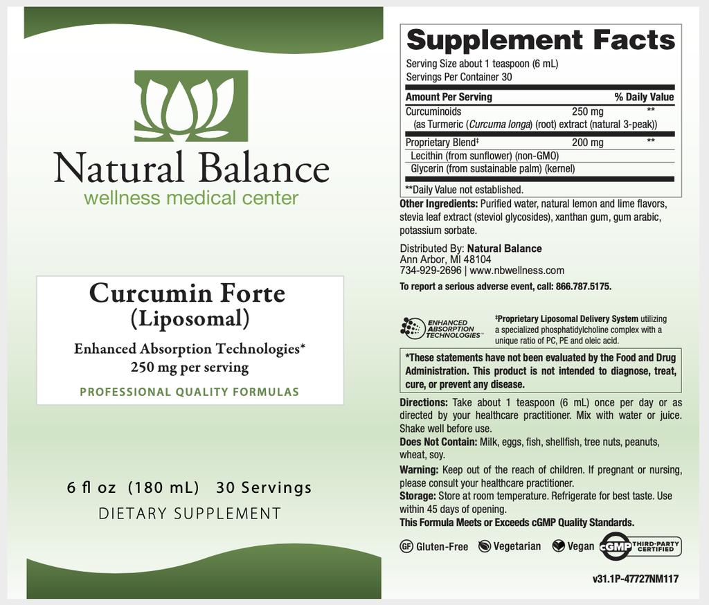 Mood CURCUMIN FORTE (Liposomal) (NUMEDICA)